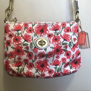Coach Red Poppy Floral Purse